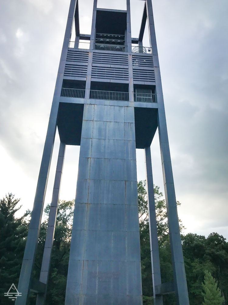 Arlington Cemetery Netherlands Carillon - Tall tower like monument