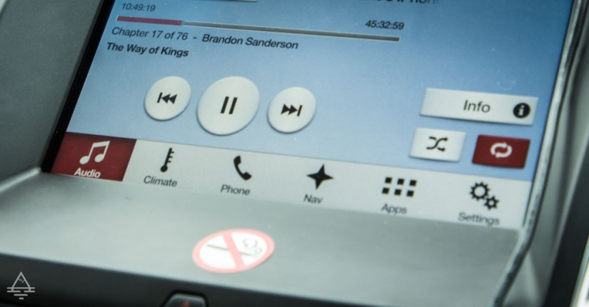 Screen showing the audiobook Way of Kings