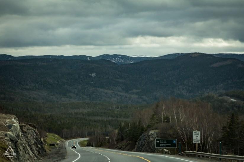Drive through Gros Morne National Park