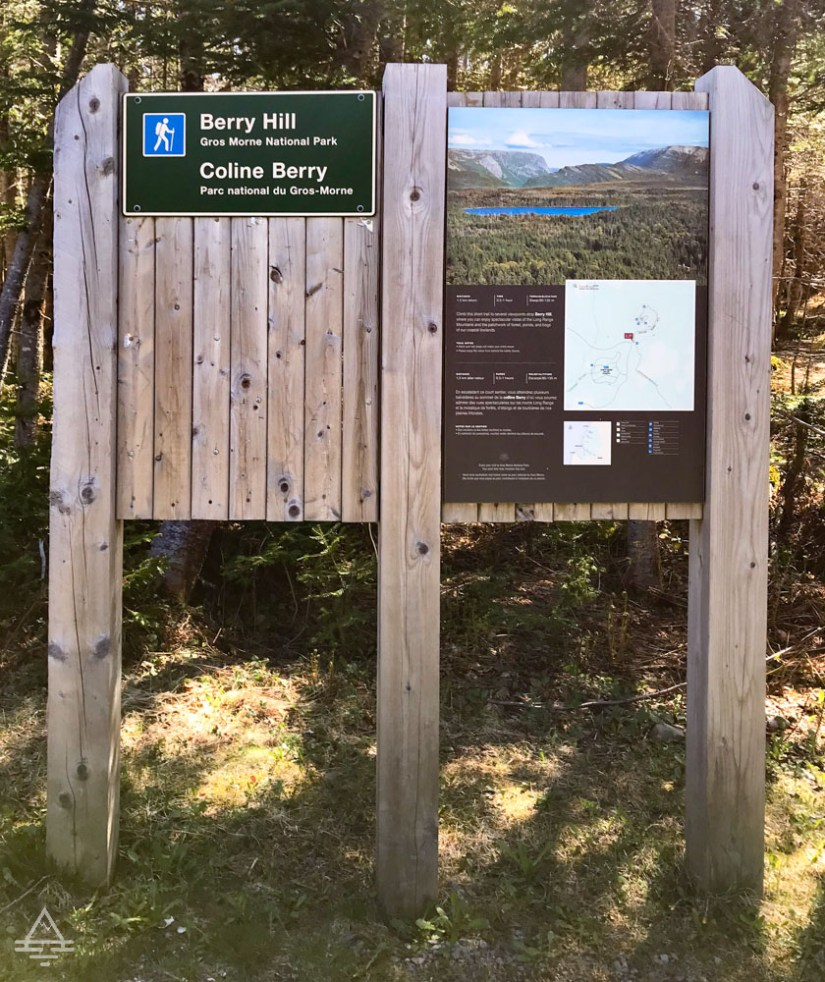 Gros Morne Berry Hill Trail Sign