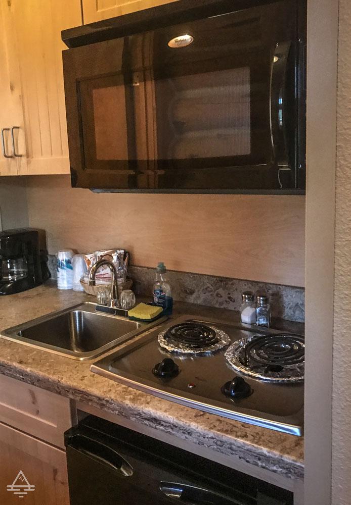 Kitchenette in Custer Cabin