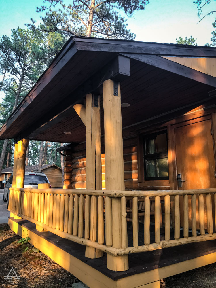 Front Porch of the Blue Belle Lodge Cabin