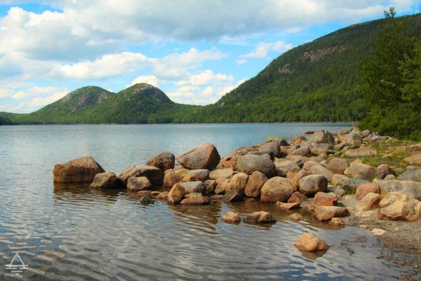 View of Jordan Pond in Acadia National Park