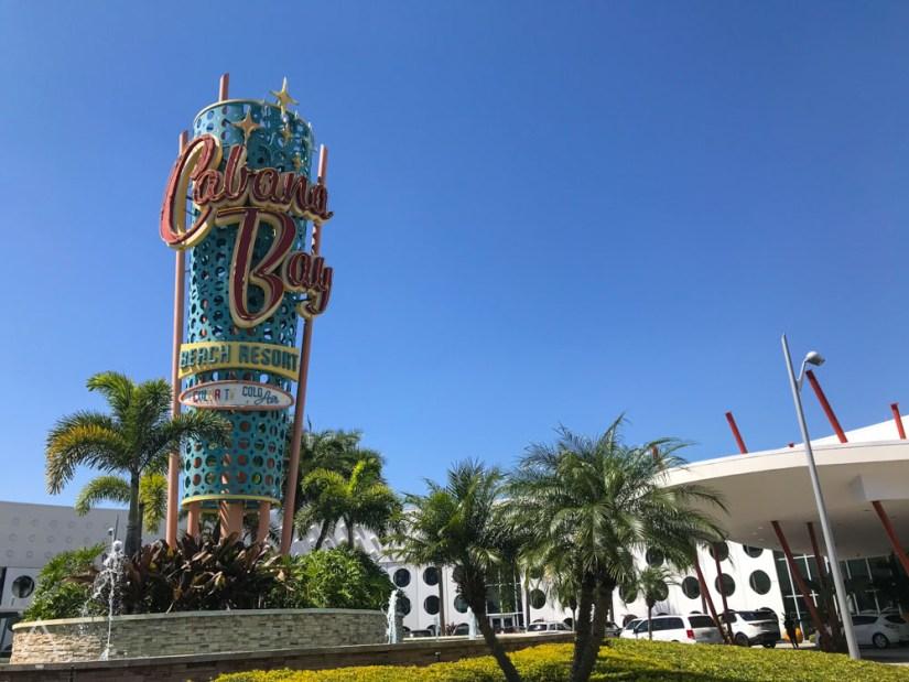 Cabana Bay Beach Resort Sign