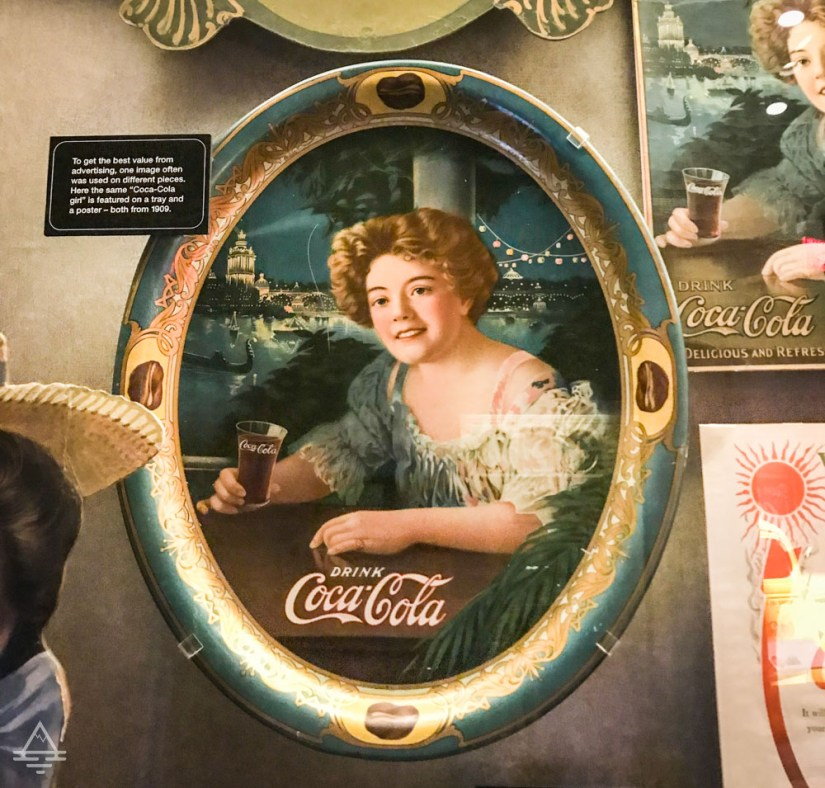 Tray Featuring the Coca Cola Brand