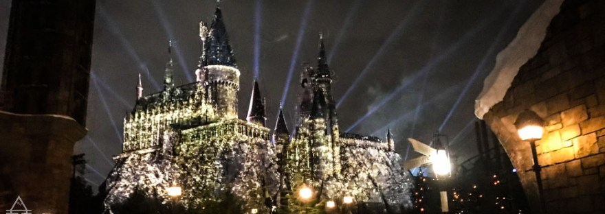 Lights at Hogwarts Castle in Harry Potter World Orlando