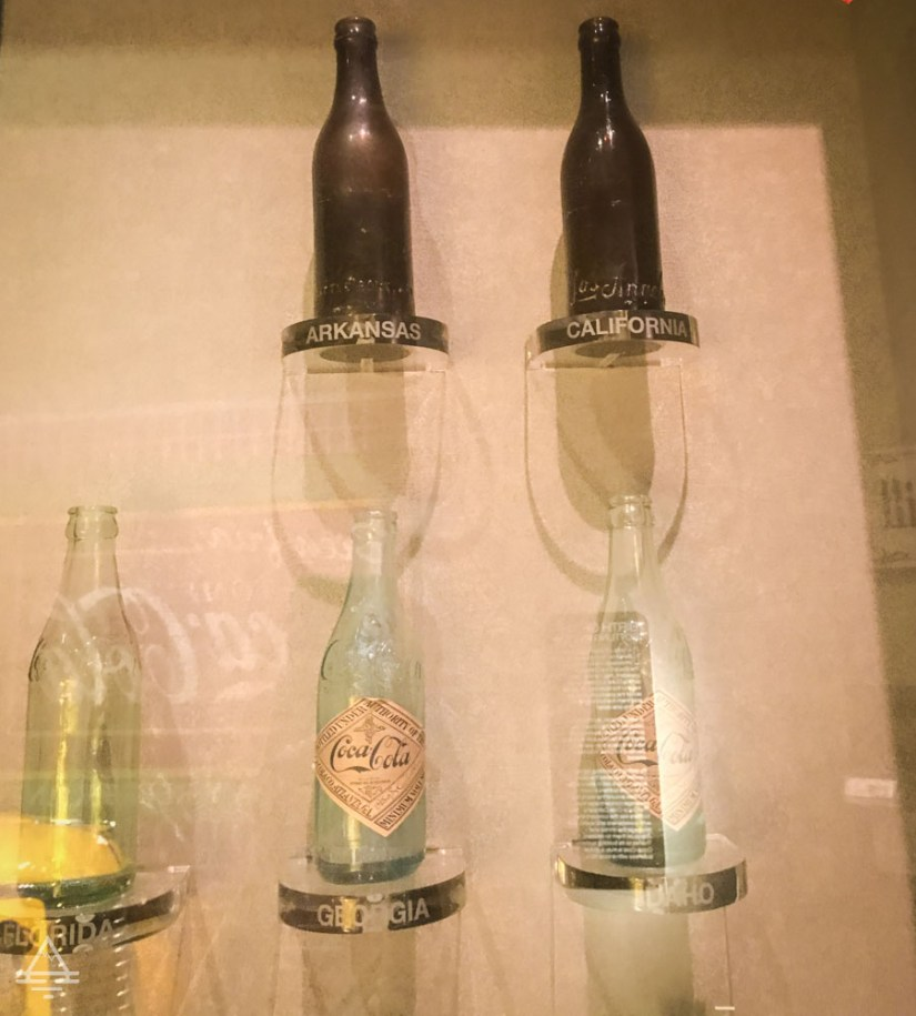 Coca Cola Bottles from Arkansas, California, Georgia, and Idaho