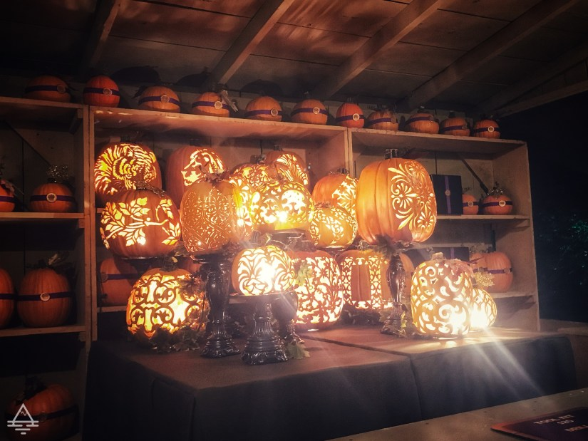 Carved pumpkins at Silver Dollar City Pumpkin Nights