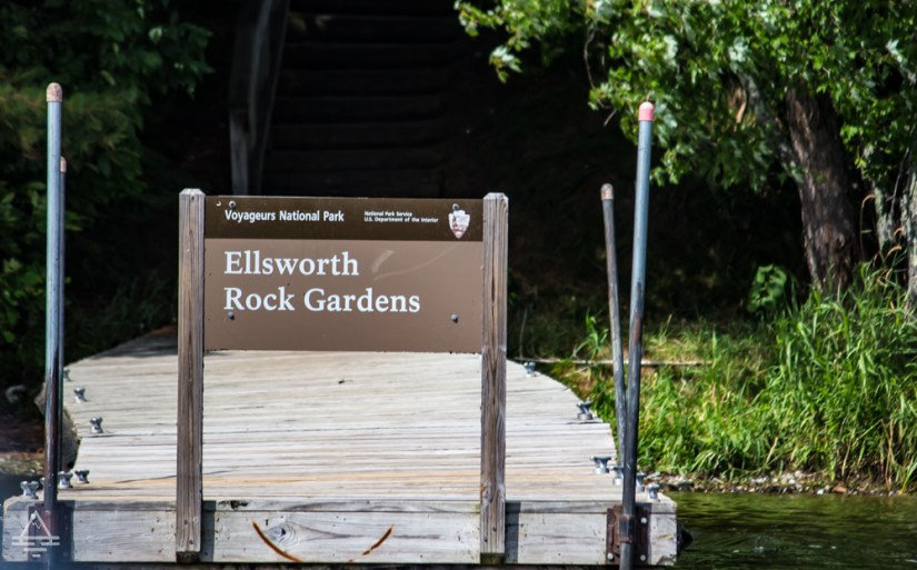 Ellsworth Rock Gardens Dock and Sign