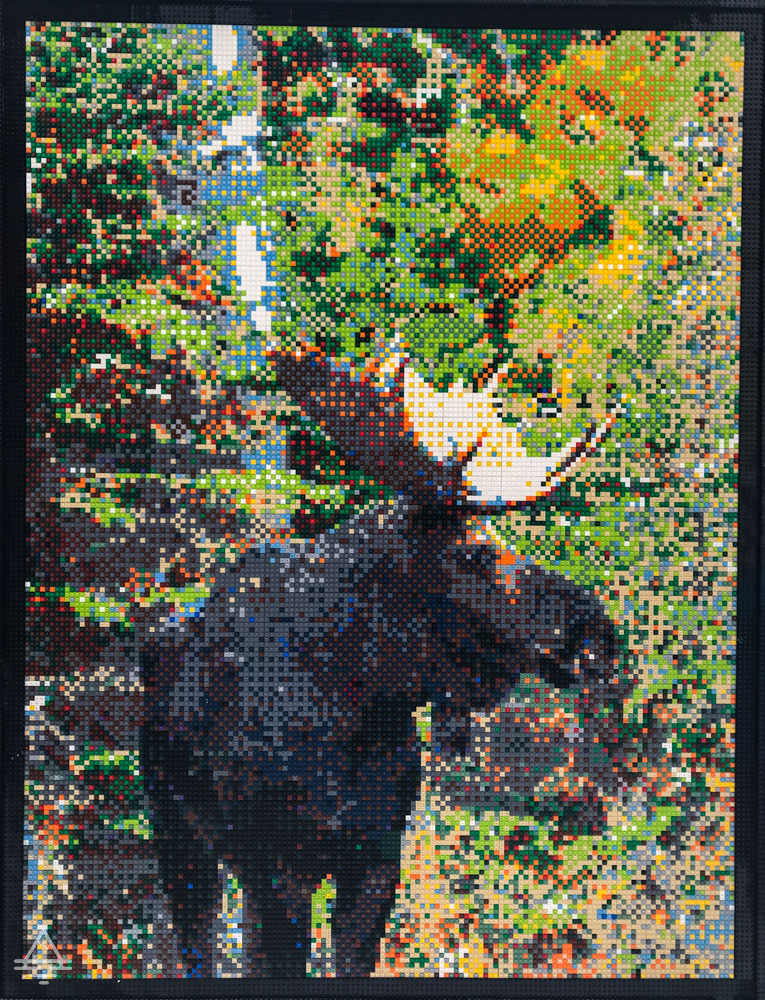 Picture of Moose Made of Legos at Mall of America