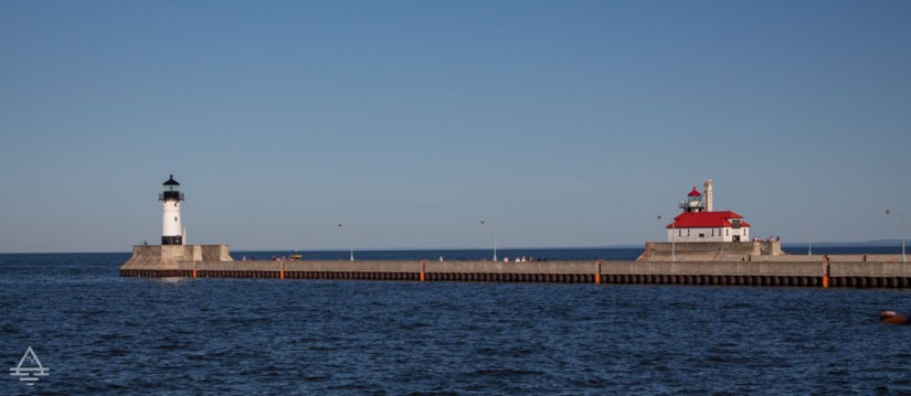 North Breakwater Lighthouse and Duluth Canal