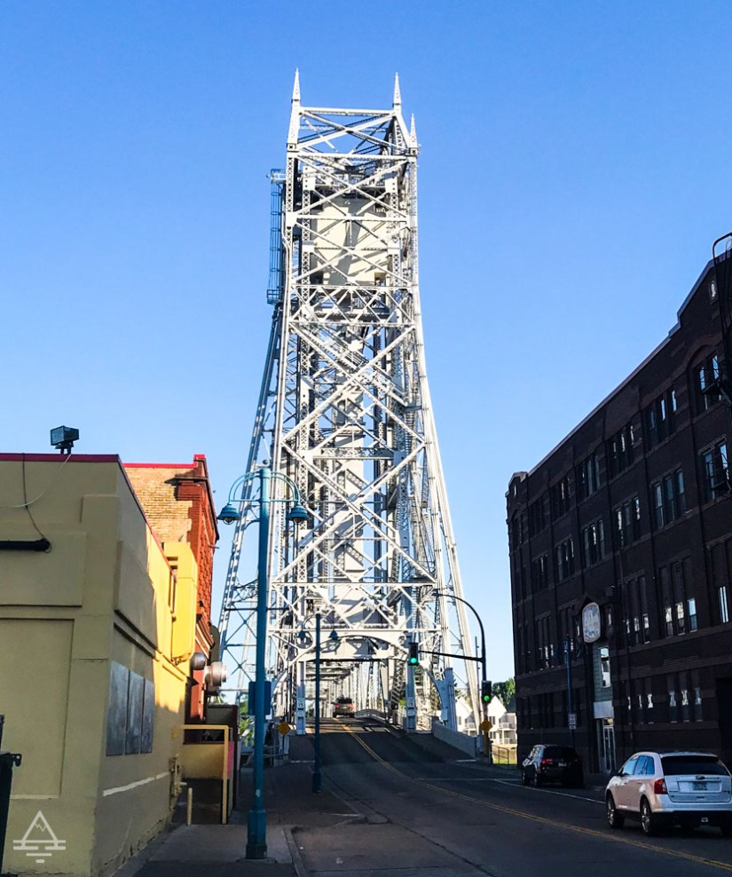 Street View of Duluth Aerial Lift  Bridge in Minnesota