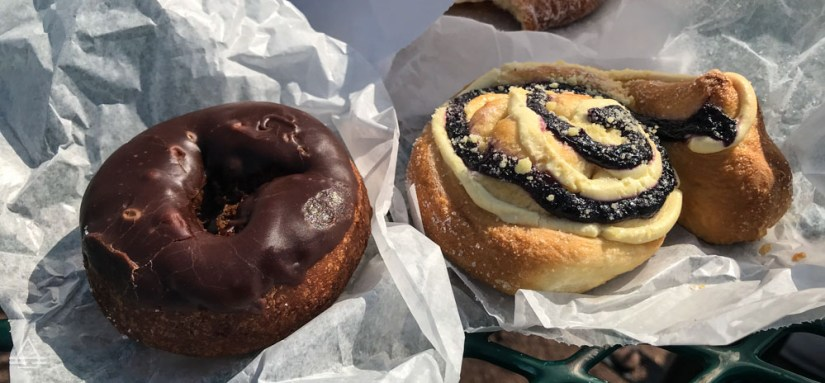 Chocolate Donut and Blueberry Swirl