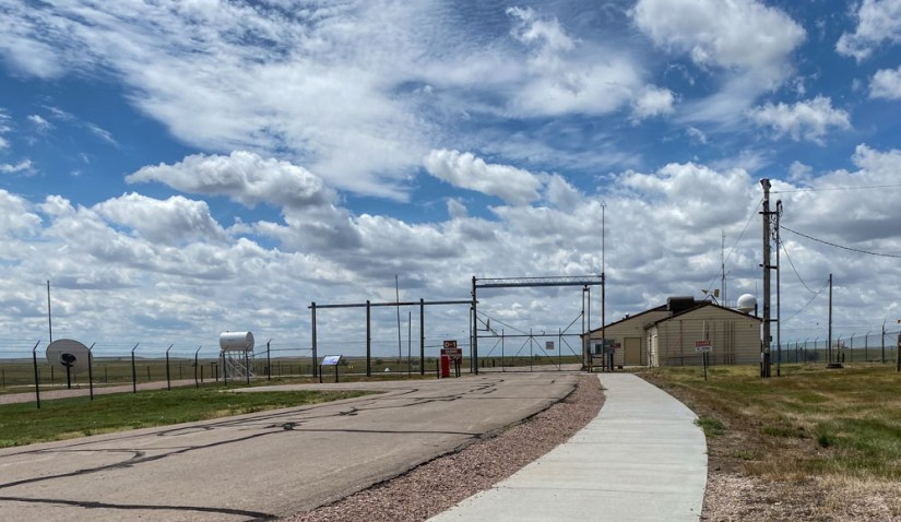 Outside the Gate of the Launch Control Center at the Minuteman Missile Silo