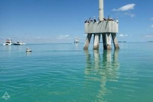 Florida Keys Pier with Pelicans
