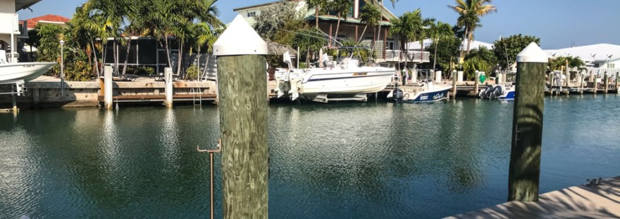 Dock and canal in the Florida Keys
