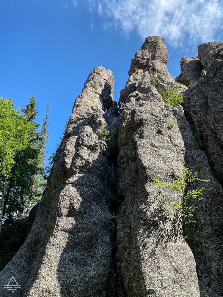 Vertical rock spires