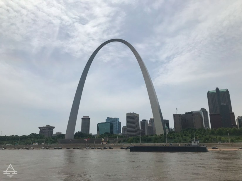 Gateway Arch by the Mississippi River in St Louis