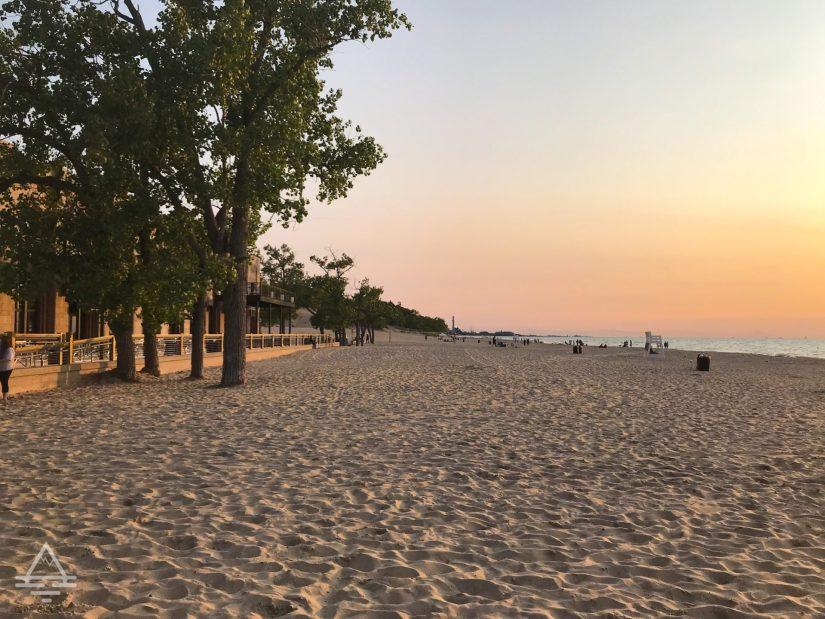Indiana Dunes State Park Beach at Sunset