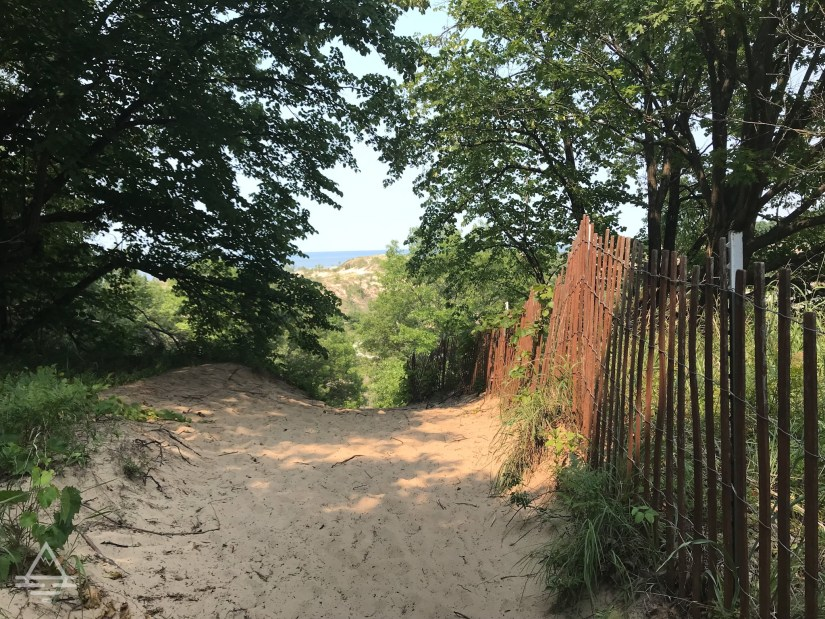 Trail to West Beach at Indiana Dunes National Park