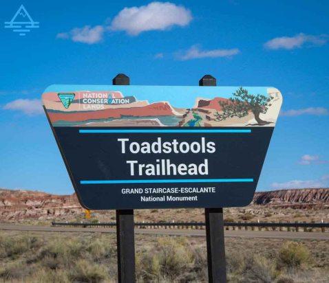 Toadstools Trailhead Sign