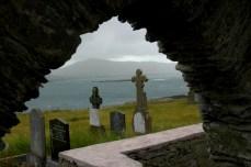 graveyard with stone arch, Beara