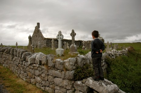 D contemplating the cemetery, Doolin