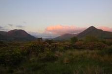 sunset mountains, Letterfrack