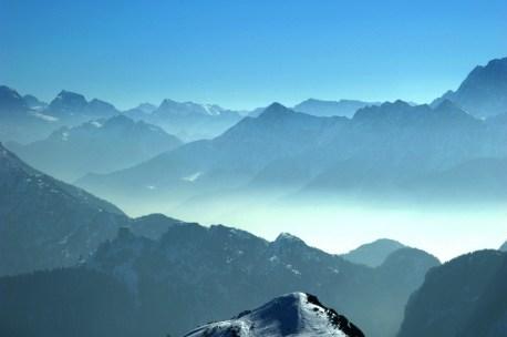 At the summit, Nassfeld, Austria