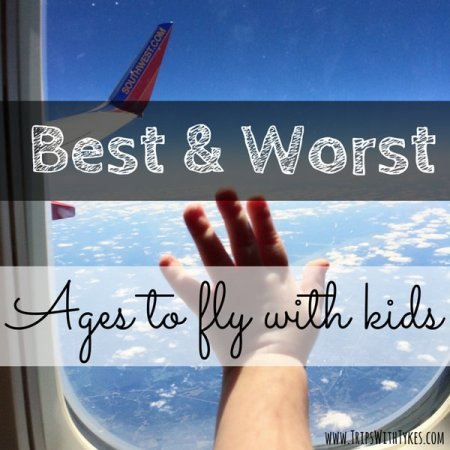 Best & Worst Ages To Fly With Your Child: General trends to help you identify the easy and challenging stages for long airplane flights so you can time and plan your family vacation.