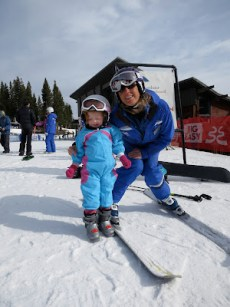 Watch Out - Two Year Old Skier on the Loose!