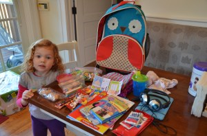 Little V has packed her bags... she's ready to go!