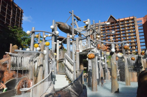 A view of the water play area, Menehune Bridge.