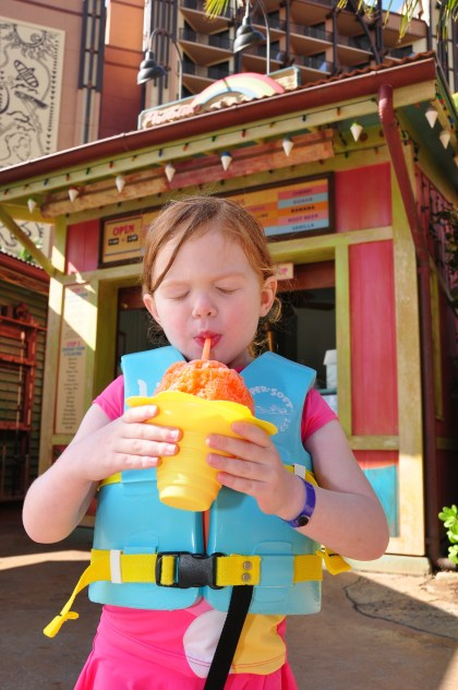 Virginia insisted on passion, orange, guava shave ice every time.