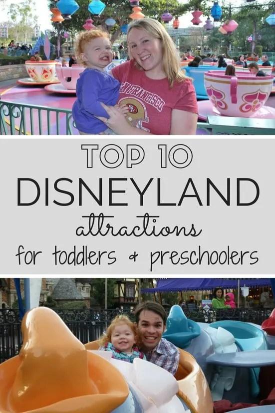 Top 10 Disneyland Attractions for Toddlers & Preschoolers