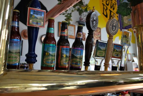 Beers on tap at the Anderson Valley Brewing Company
