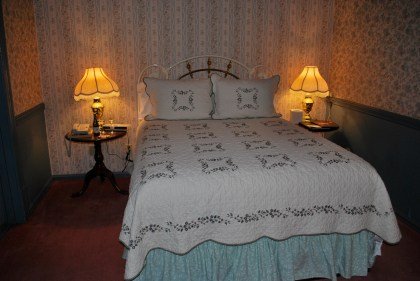 Our totally cute Victorian era room at the Hopland Inn.