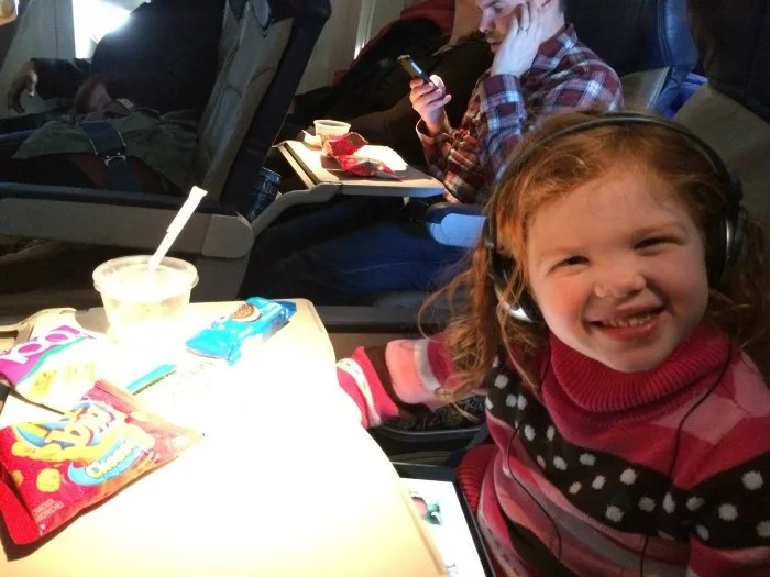Flying with Two Kids - Big Sister