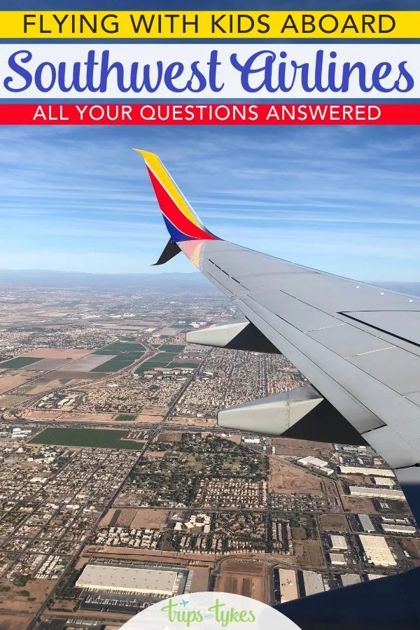Flying Southwest Airlines with kids? Insider tips and tricks from a parent who has flown Southwest with family nearly 100 times. How to save money with Rapid Rewards, special rules for lap children, snacks, in-flight entertainment, and more. #SouthwestStorytellers #SouthwestHeart #AirTravel #FamilyTravel #FlyingWithKids