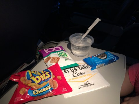Southwest snacks aboard our last long flight (OAK to MDW).
