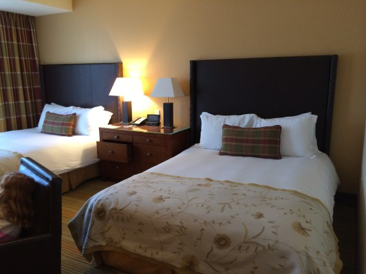 Two queen beds at the Ritz-Carlton Lake Tahoe