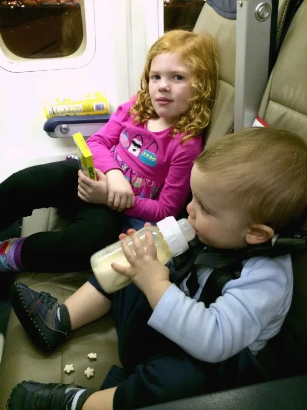 Babys First Flight - Bottle with Milk