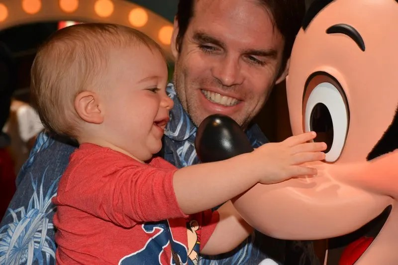 Disneyland Mickey Mouse with Toddler