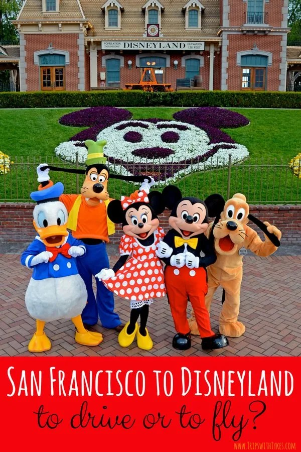 Should you fly or drive from San Francisco to Disneyland? A careful look at the time, cost, and convenience of both options, with airport recommendations.