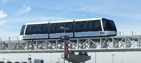 Navigating Oakland Airport with Kids: AirBART train