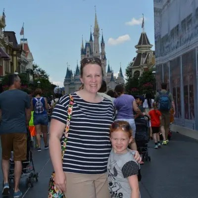 Mother daughter Magic Kingdom castle