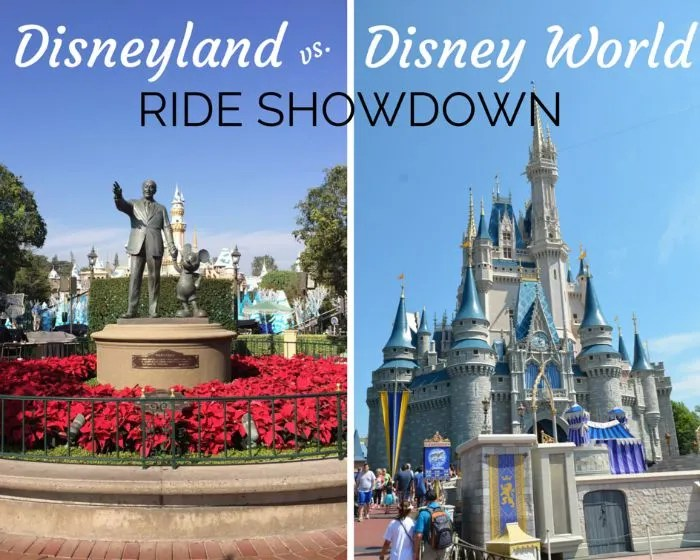 Disney Attraction Prize Fight: Disneyland vs. Walt Disney World Versions of Shared Rides
