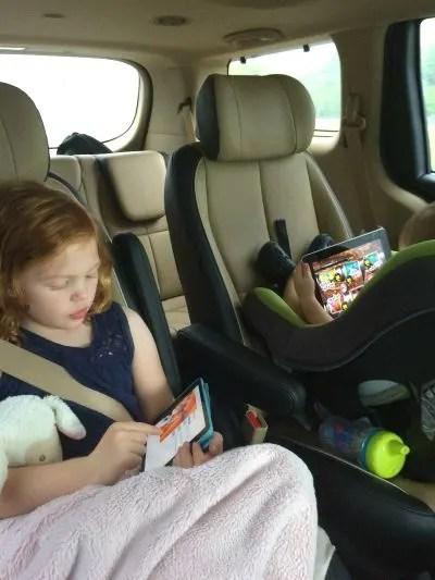 Back seat kids in car seats