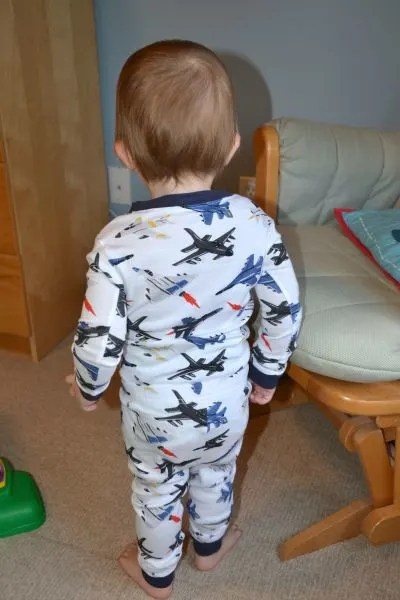 Travel with Diapers - Toddler Flight PJs Back
