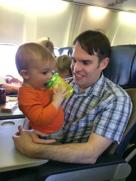 95492bcec330 How to Survive Flying with a Lap Toddler - Trips With Tykes